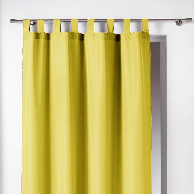 Essentiel Plain Tab Top Curtain Panel Lime Green