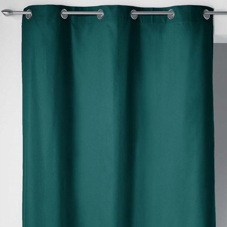 Plain 100 Cotton Panama Single Curtain With Ring