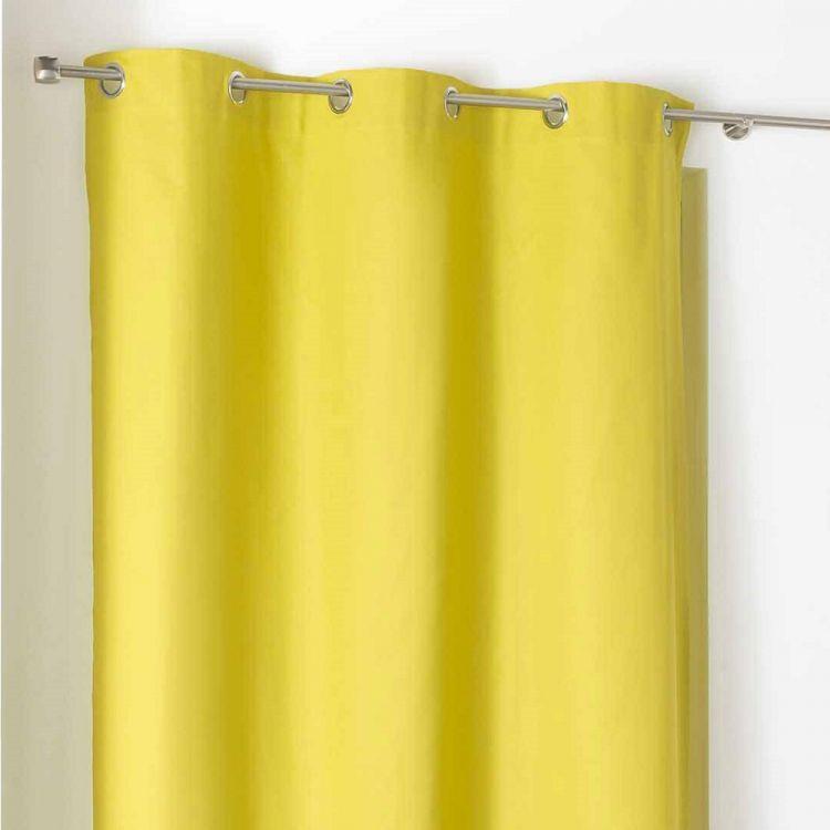 Popsys Plain 100 Cotton Ring Top Curtain Panel
