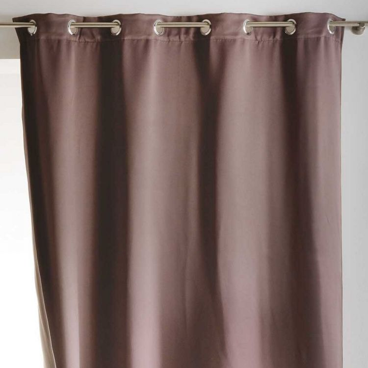 Covery Insulating Blackout Curtain Panel With Eyelets Taupe