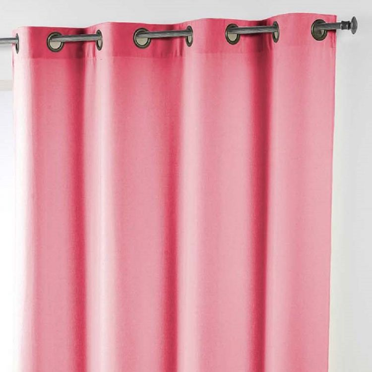 Essentiel Plain Single Curtain Panel With Metal