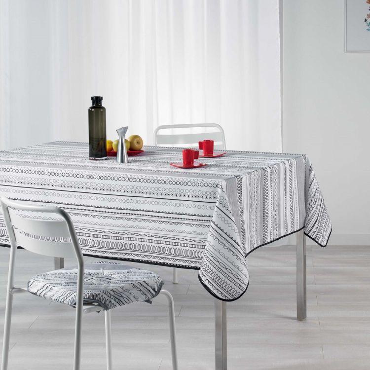 Analea Stripe Tablecloth Black Amp White Tonys Textiles