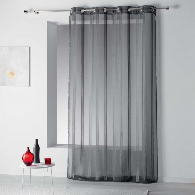 Bandas Ring Top Voile Curtain With Vertical Stripes