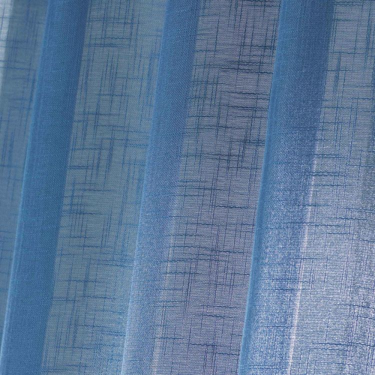 Haltona Woven Linen Effect Ring Top Voile Curtain