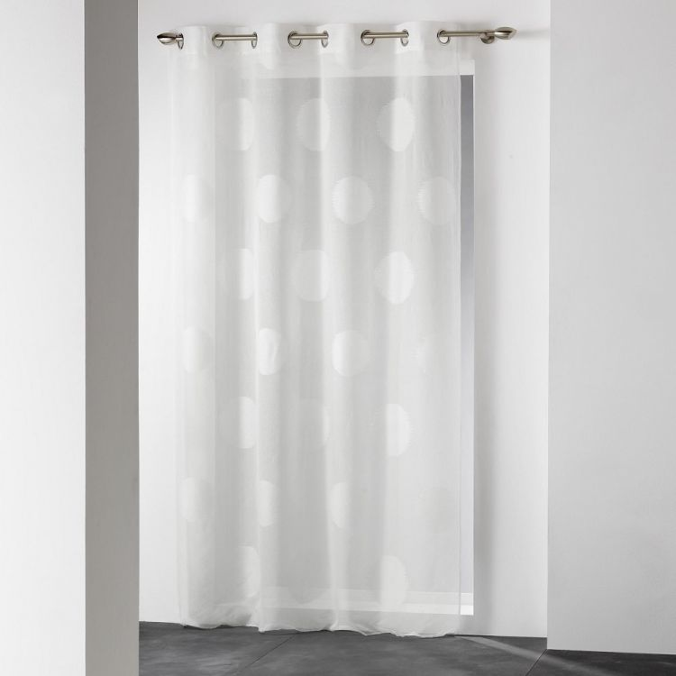 Odyssee Circle Voile Curtain Panel With Eyelets