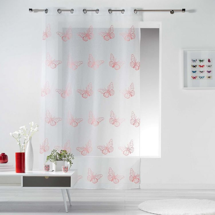 Papillona Butterfly Ring Top Voile Curtain Panel