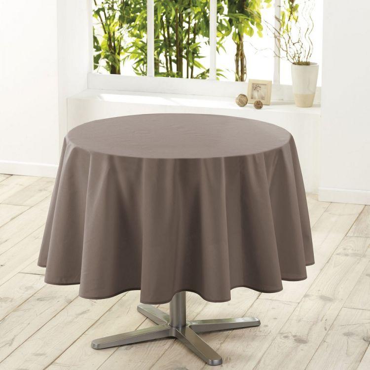Essentiel Plain Tablecloth Taupe Tonys Textiles