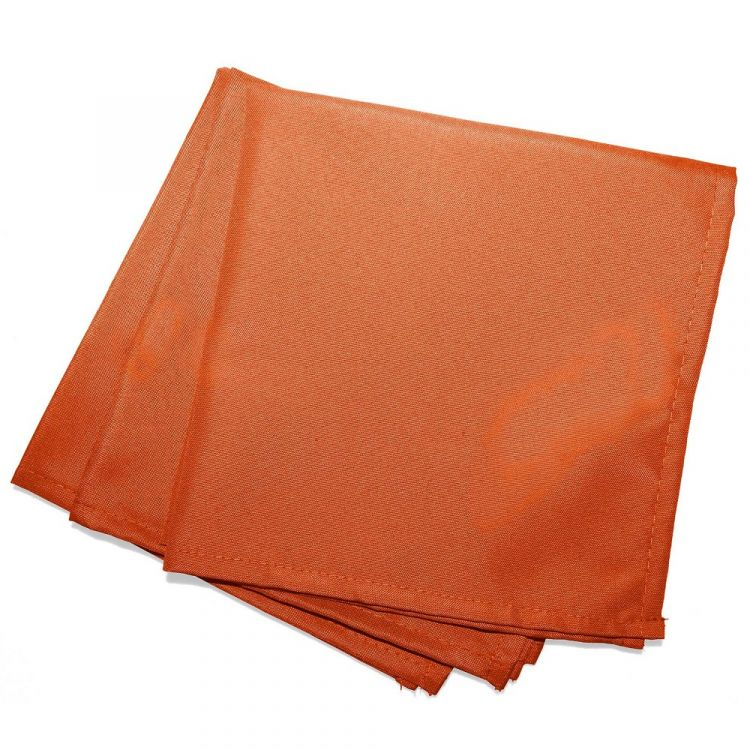 Essentiel Plain Tablecloth Brick Orange Tonys Textiles