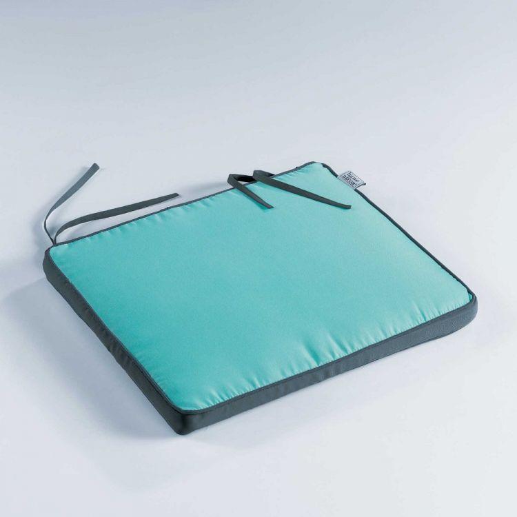 Aqua Blue & Charcoal