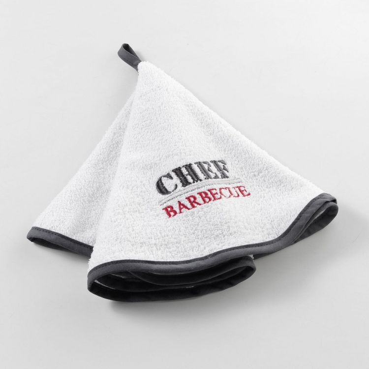 Embroidered Terry Cloth Hand Towels: Round Terry Hand Towel