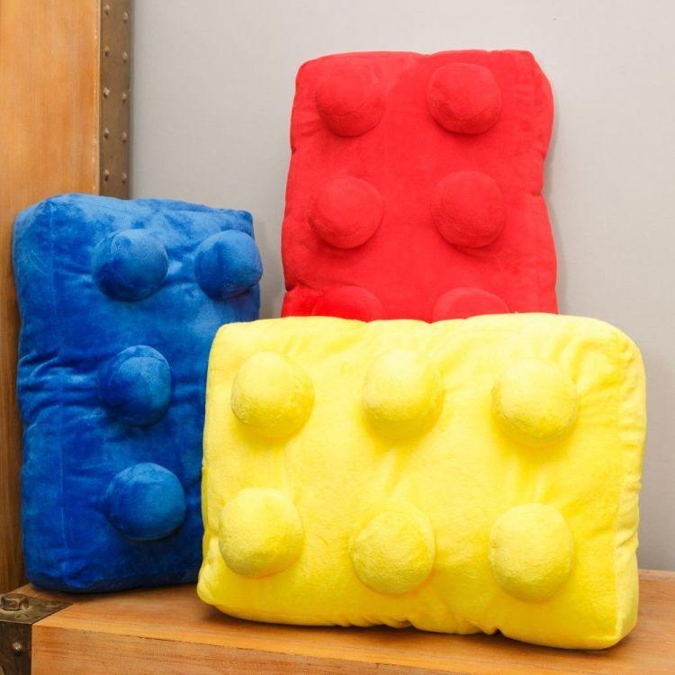 Building Brick Cushion Yellow Tonys Textiles