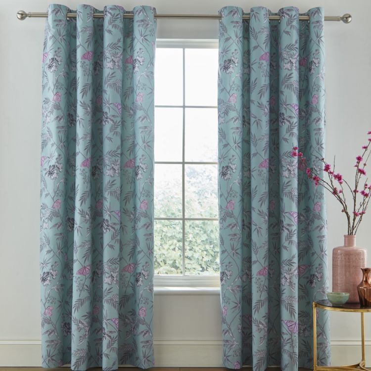 Catherine Lansfield Oriental Butterfly Curtains