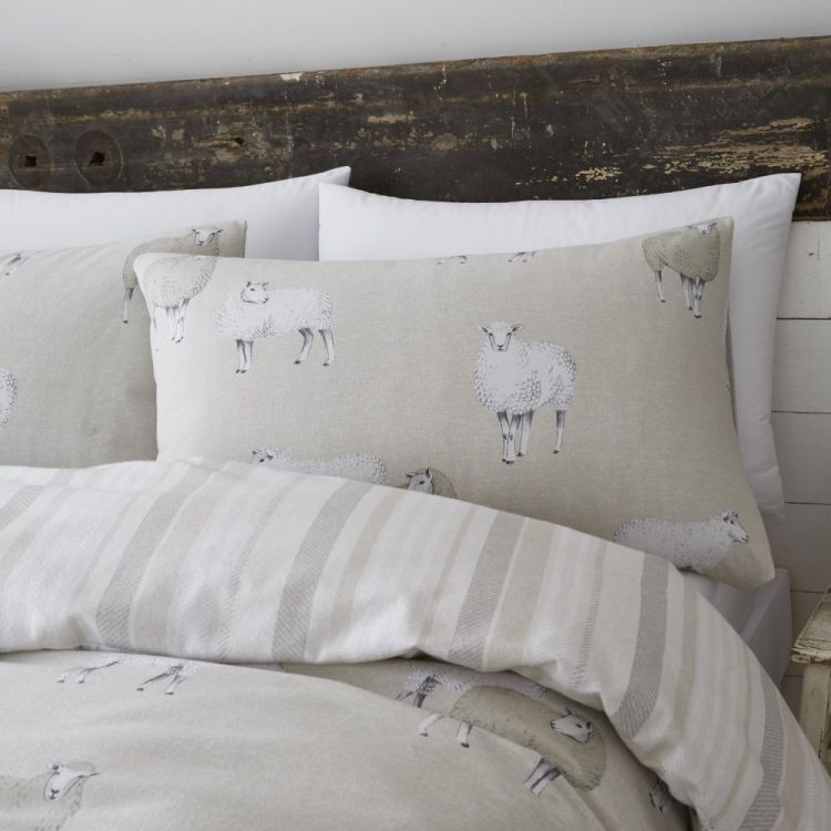 Catherine Lansfield Sheep Duvet Cover Set Natural