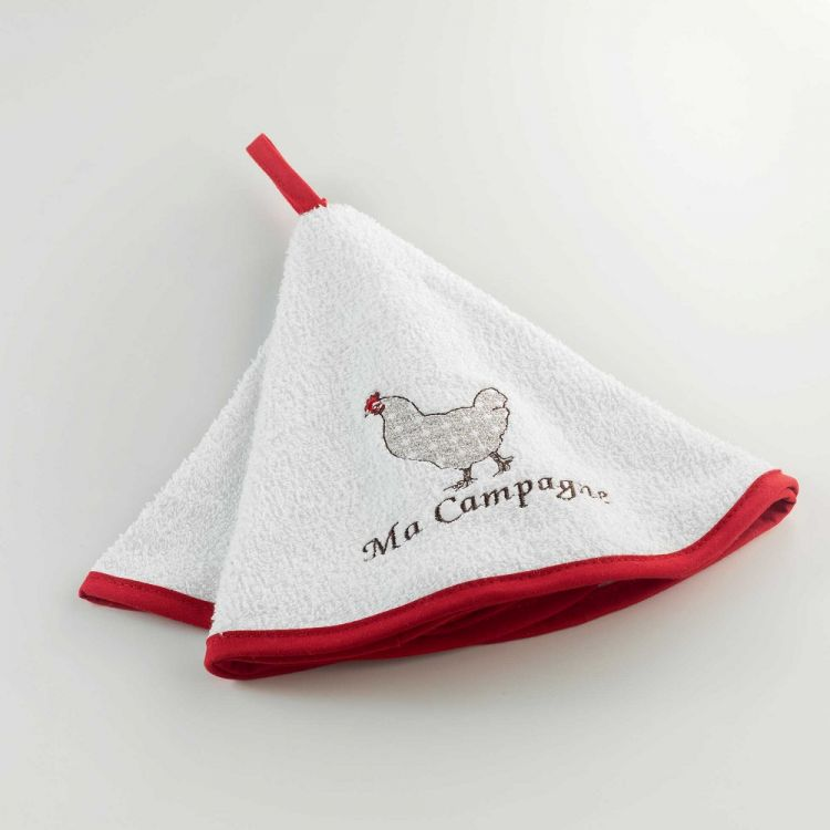 Embroidered Terry Cloth Hand Towels: Picoti Embroidered
