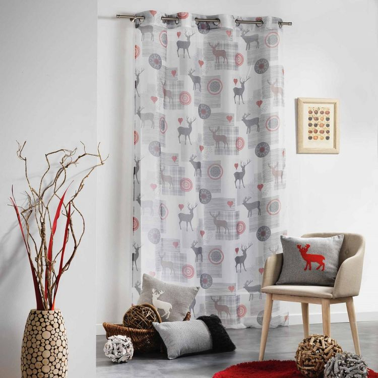 Montana Voile Curtain Panel With Eyelets White