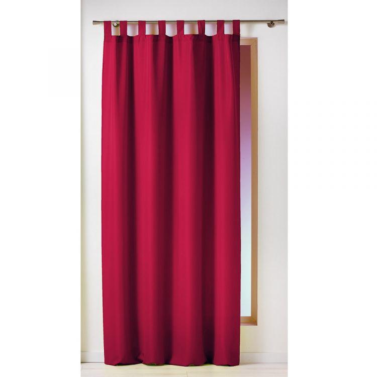 Essentiel Plain Tab Top Curtain Panel Red Tonys