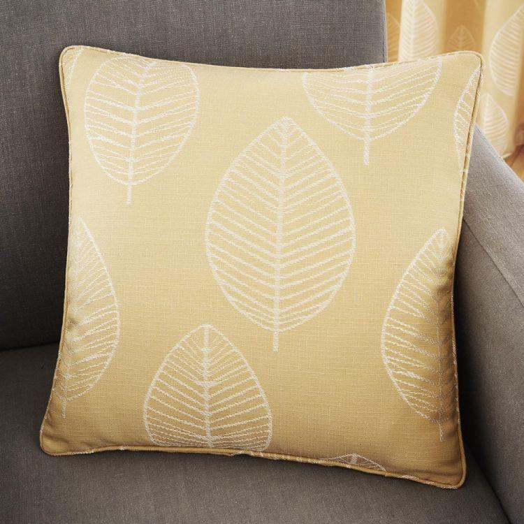 Helsinki Jacquard Cushion Cover Ochre Yellow Tonys