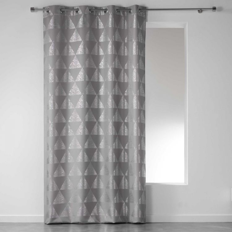 Frosty Geometric Eyelet Unlined Curtain Panel