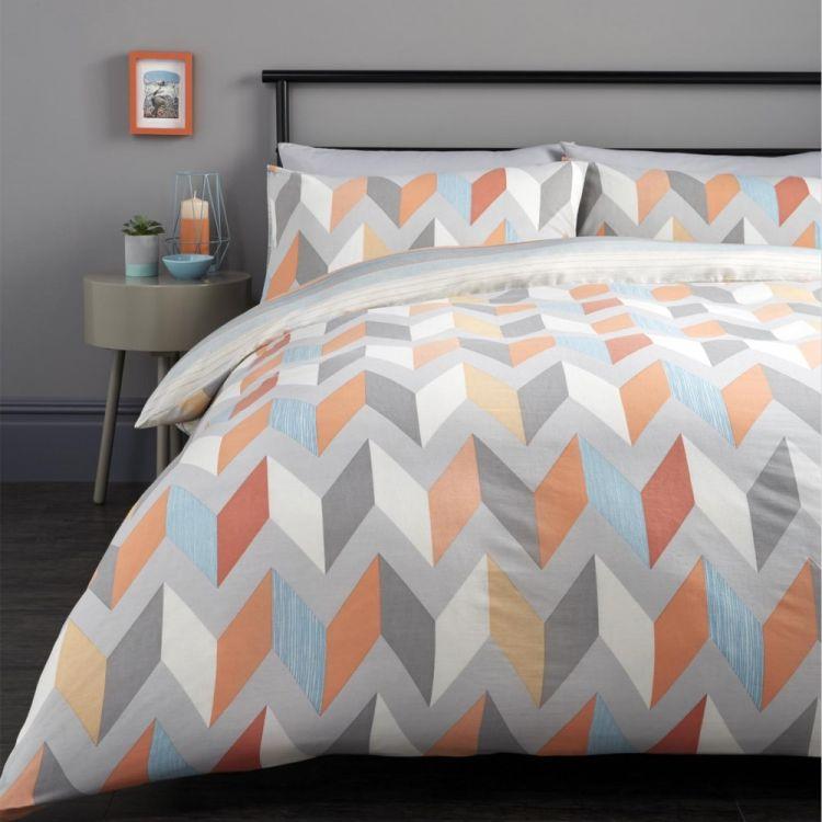 Grafix Geometric Duvet Cover Set Multi Tonys Textiles
