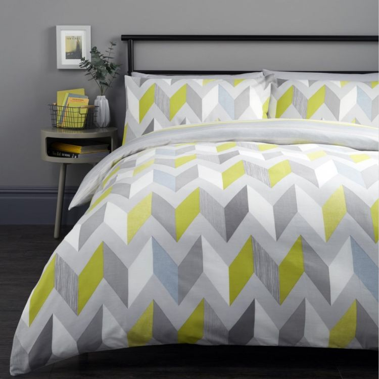 Grafix Geometric Duvet Cover Set Grey Tonys Textiles