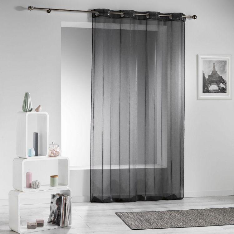 Modeli Striped Eyelet Voile Curtain Panel