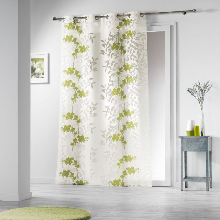 Naturiance Floral Eyelet Voile Curtain Panel