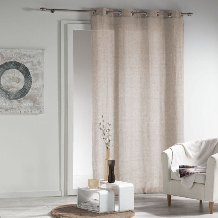 new wave chambray eyelet voile curtain panel. Black Bedroom Furniture Sets. Home Design Ideas