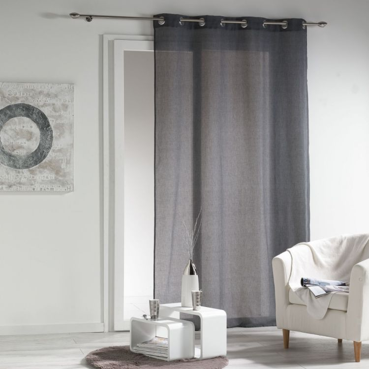 New Wave Chambray Eyelet Voile Curtain Panel