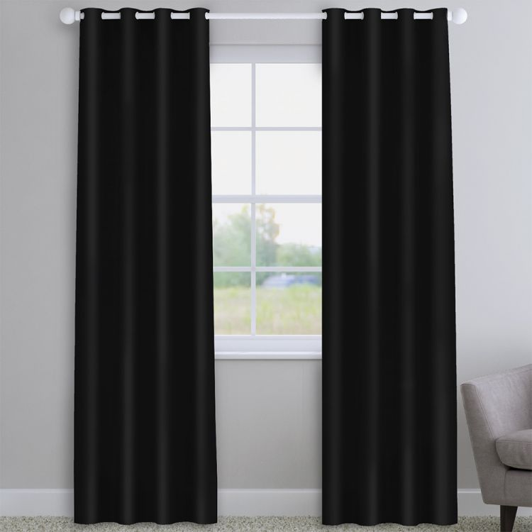 Faux Silk Black Made To Measure Curtains Tonys