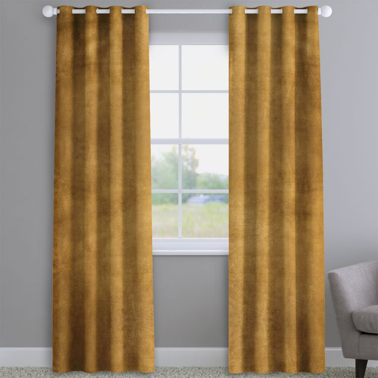 Velvet Ochre Made To Measure Curtains Tonys Textiles