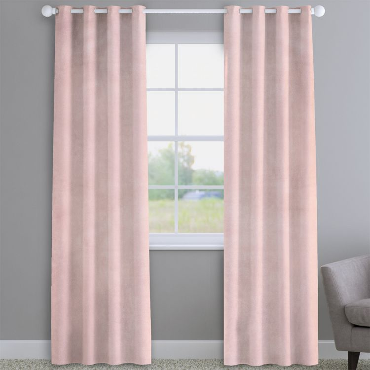 Velvet Blush Pink Made To Measure Curtains Tonys