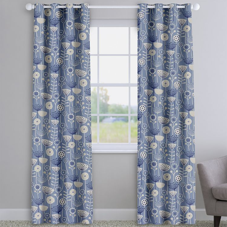 Bergen 100 Cotton Floral Made To Measure Curtains