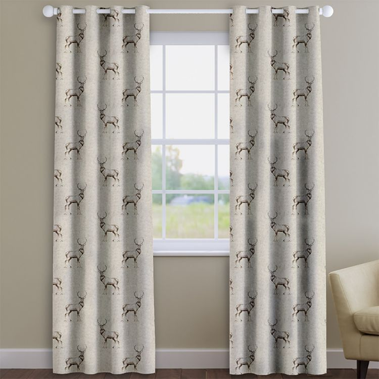 Glencoe Stag 100 Cotton Made To Measure Curtains