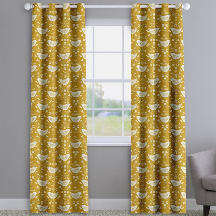 Narvik Birds 100 Cotton Made To Measure Curtains