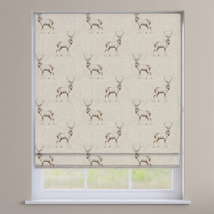Glencoe Stag 100 Cotton Made To Measure Roman Blinds