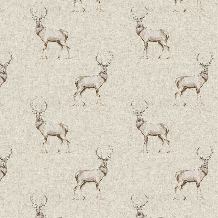 Glencoe Stag 100 Cotton Made To Measure Roman Blinds Natural Brown Tonys Textiles