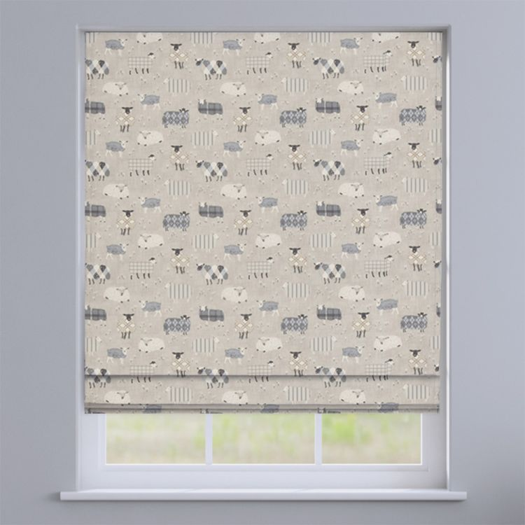Baa Baa Sheep 100 Cotton Made To Measure Roman Blinds