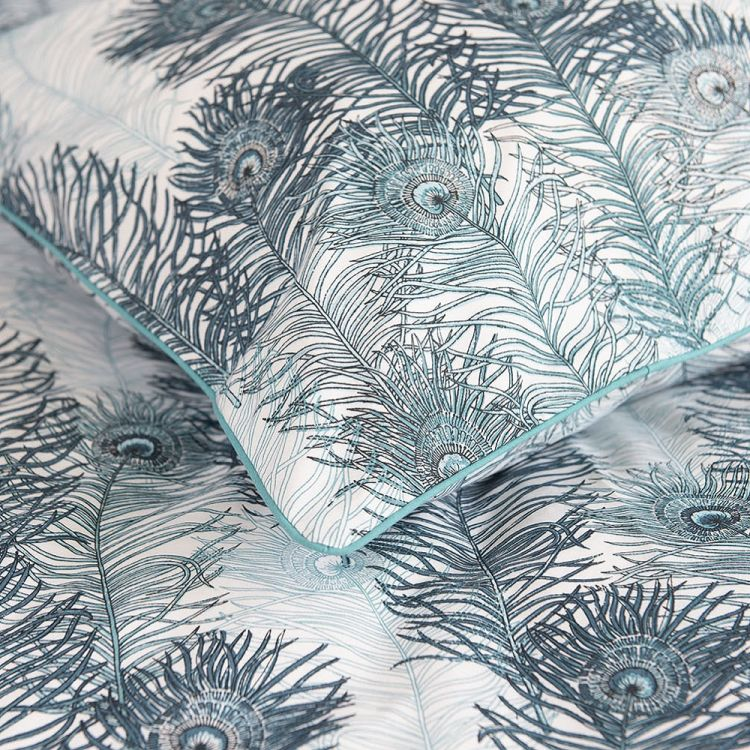 Peacock Feather 100 Cotton Duvet Cover Set Teal