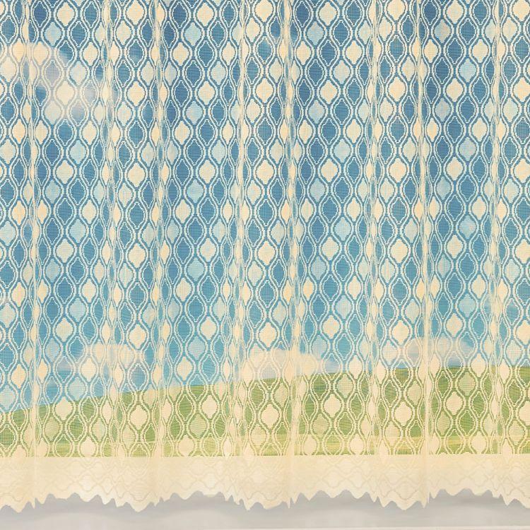 Muse Geometric White Net Curtain Tony S Textiles