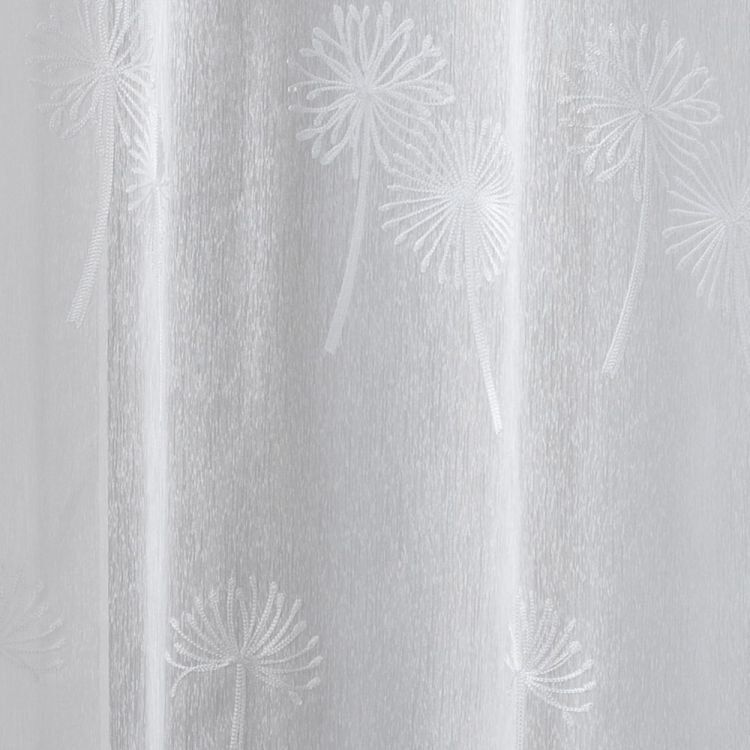 Eva Embroidered Floral Eyelet Voile Curtain Panel
