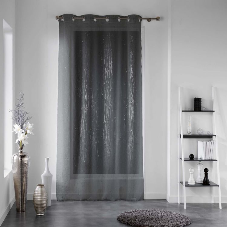 Filiane Delicate Stripes Eyelet Voile Curtain Panel