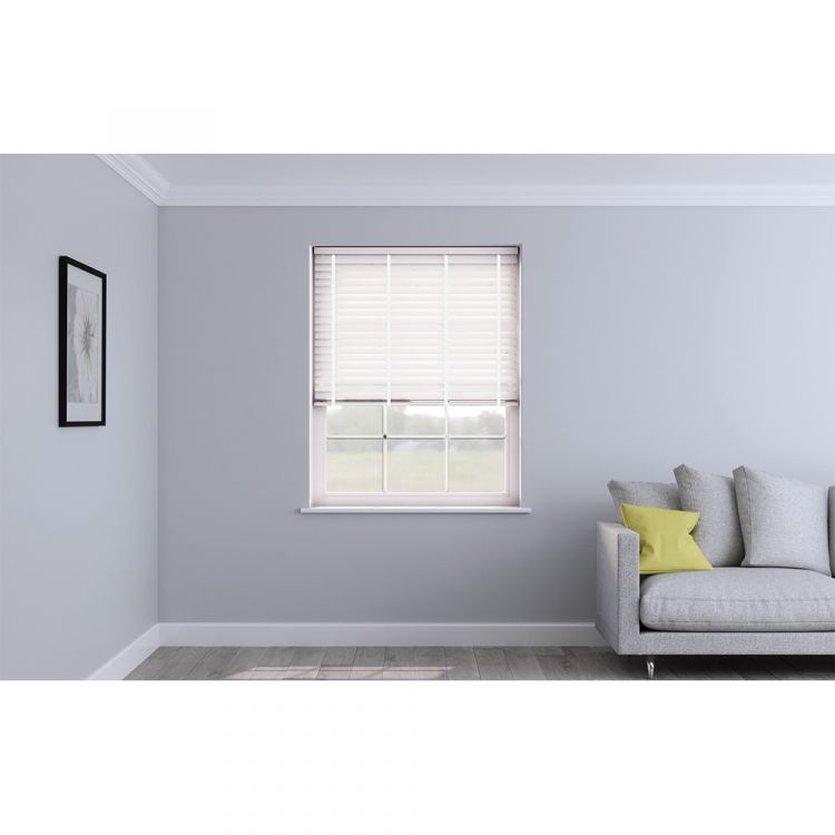 Faux Wood Venetian Blind With Tape Embossed Arctic