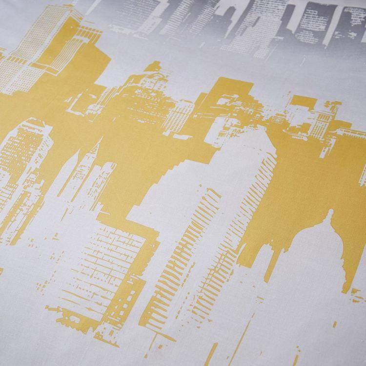 Cityscape Duvet Cover Set Ochre Yellow Tonys Textiles