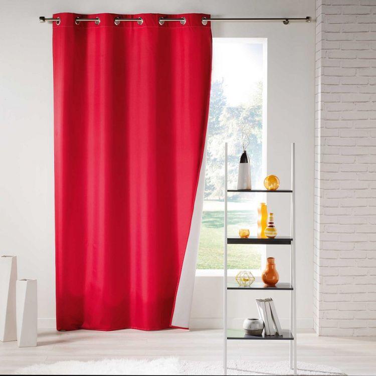 Icemount Thermal Blackout Eyelet Curtain Panel Red