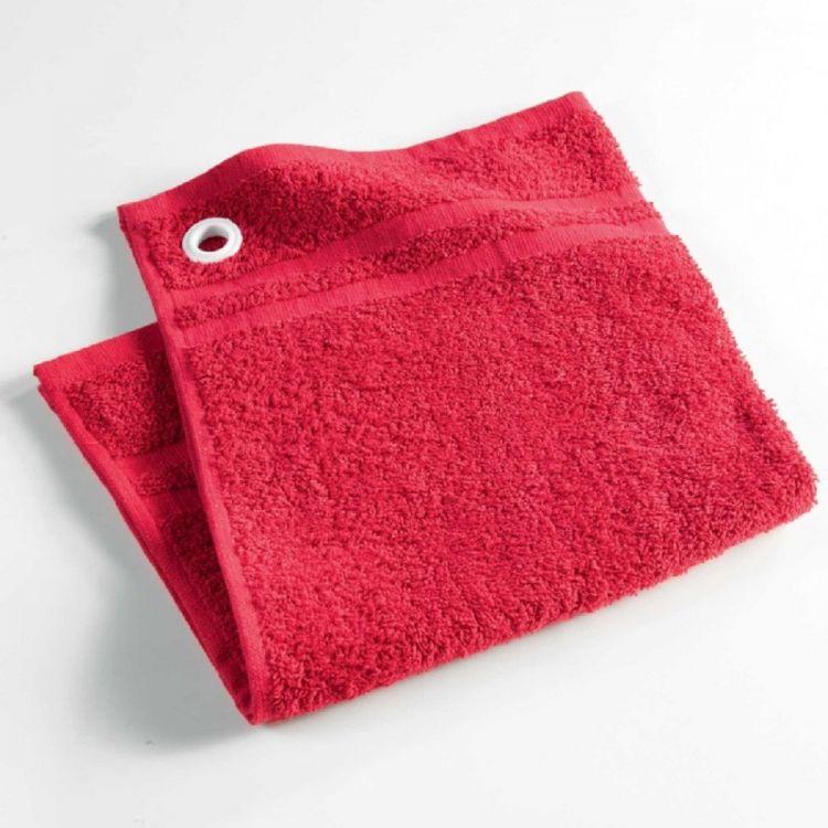 Red Kitchen Hand Towels: Plain Cotton Kitchen Hand Towel