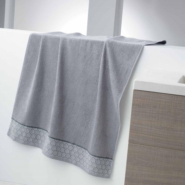 Adeline Jacquard 100 Cotton 450gsm Towel Silver Grey