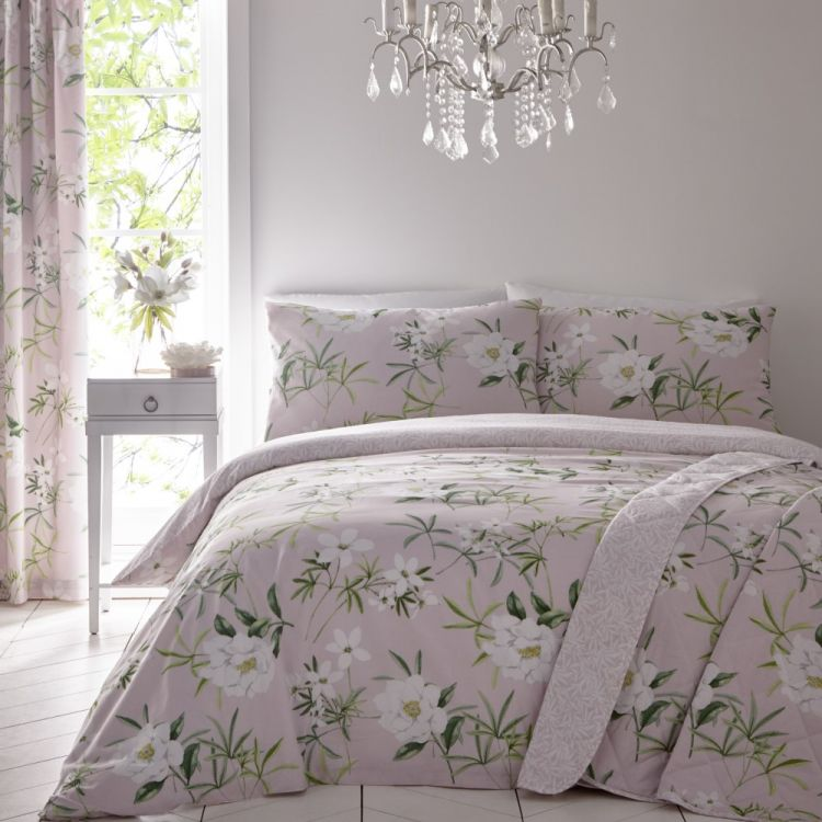 Florence Painted Floral Duvet Cover Set Blush Pink