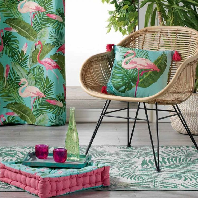 Zootica Flamingo 100 Cotton Booster Cushion