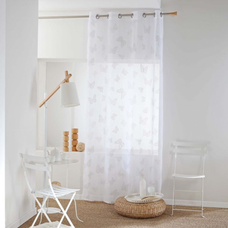 amalia butterfly eyelet voile curtain panel. Black Bedroom Furniture Sets. Home Design Ideas