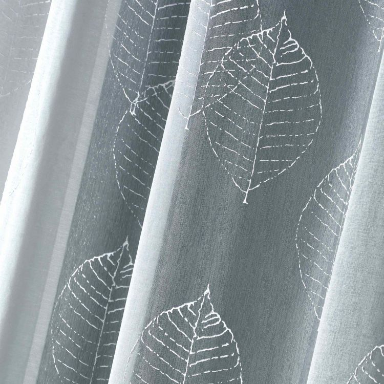 Zinnia Leaves Eyelet Voile Curtain Panel